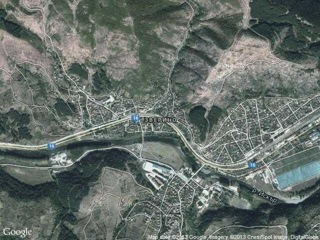 Сателитна карта на Зверино