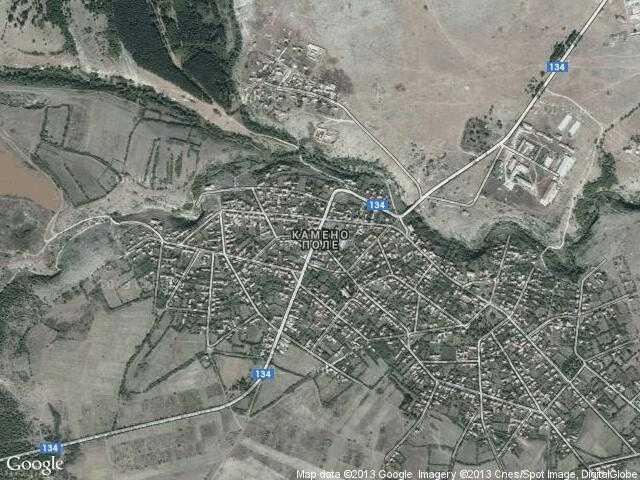 Сателитна карта на Камено поле
