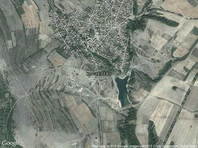 Сателитна карта на Костелево