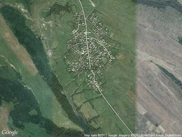 Сателитна карта на Крапец