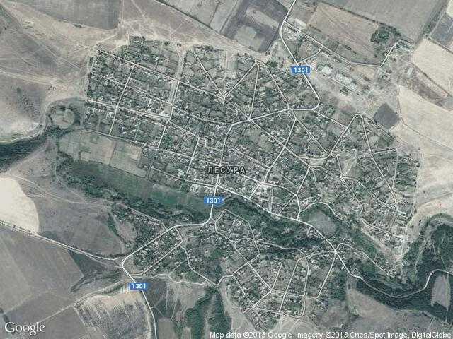 Сателитна карта на Лесура