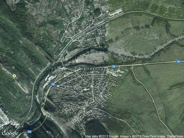 Сателитна карта на Лютиброд
