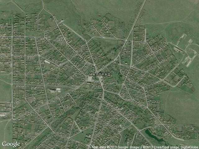 Сателитна карта на Малорад