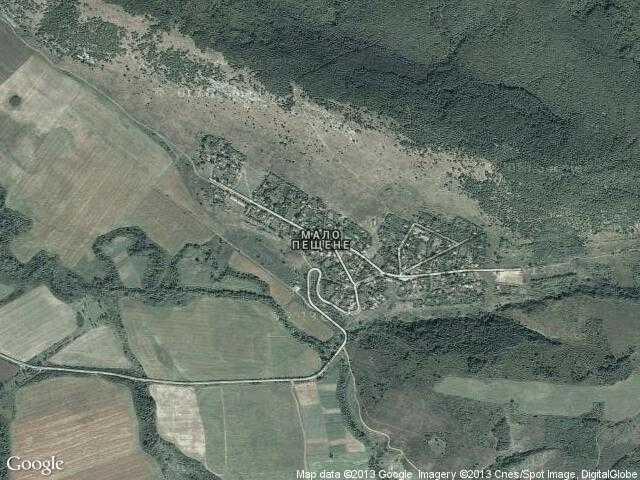 Сателитна карта на Мало Пещене