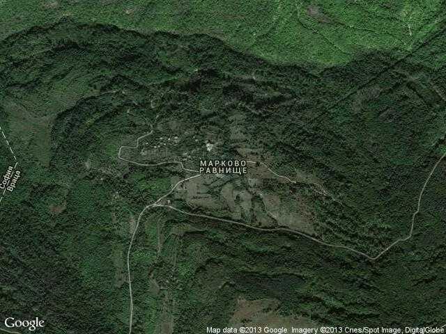 Сателитна карта на Марково равнище
