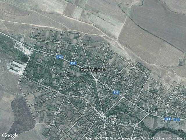 Сателитна карта на Михайлово