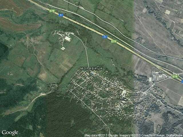Сателитна карта на Моравица
