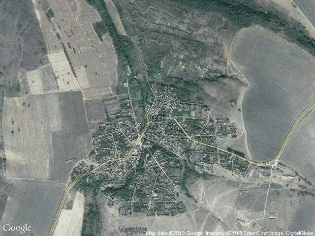Сателитна карта на Осен