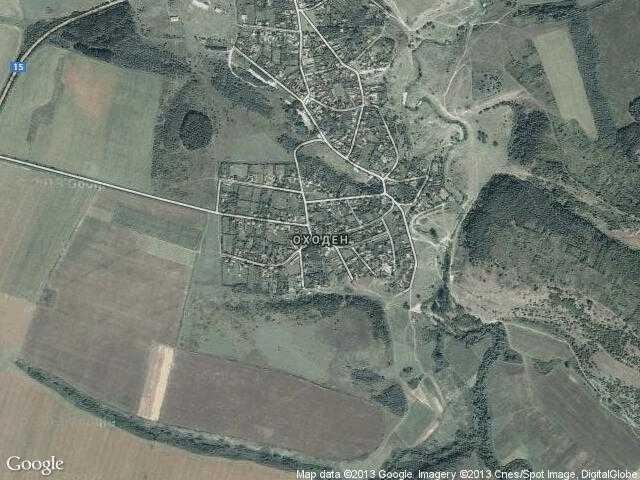 Сателитна карта на Оходен