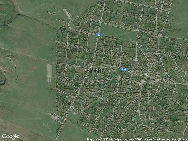 Сателитна карта на Рогозен