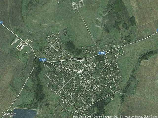 Сателитна карта на Тишевица