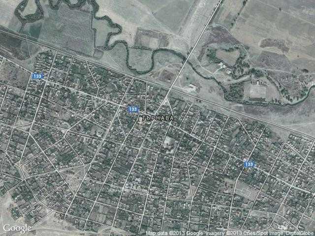 Сателитна карта на Търнава
