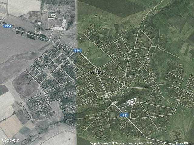 Сателитна карта на Търнак