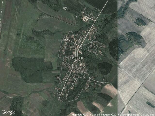 Сателитна карта на Уровене