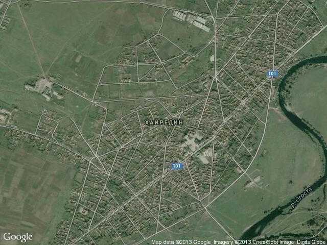 Сателитна карта на Хайредин