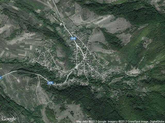 Сателитна карта на Хубавене