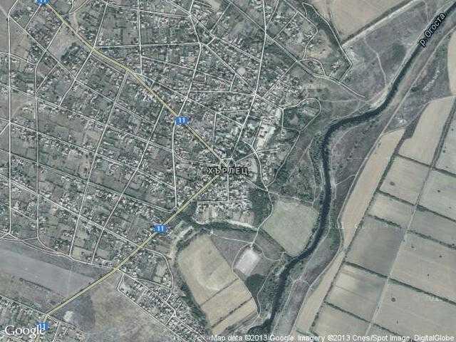 Сателитна карта на Хърлец