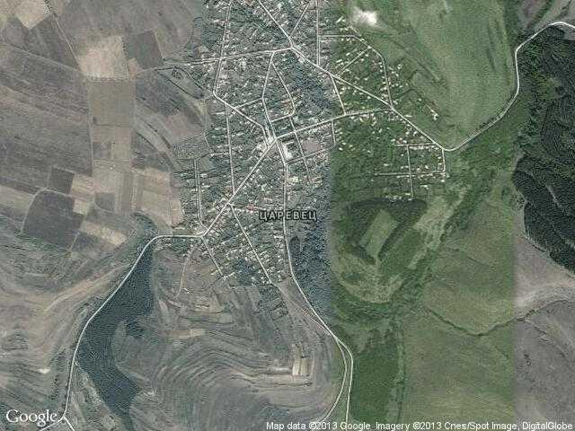 Сателитна карта на Царевец