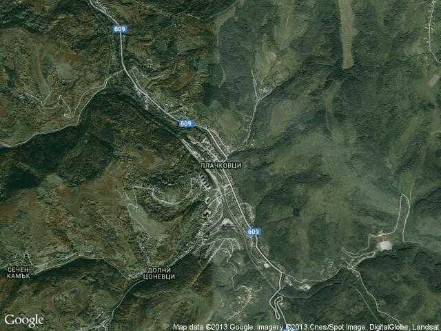 Сателитна карта на Плачковци