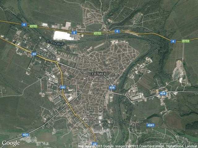 Сателитна карта на Севлиево