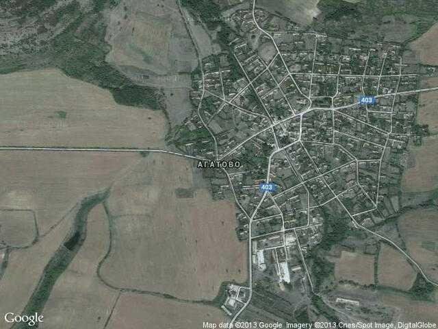 Сателитна карта на Агатово