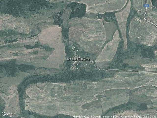 Сателитна карта на Балванците