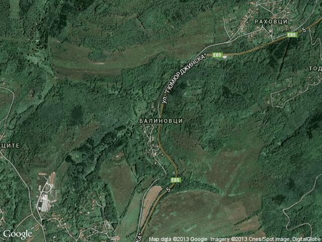Сателитна карта на Балиновци