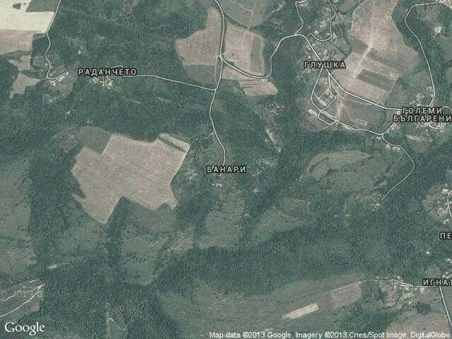 Сателитна карта на Банари