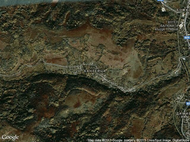 Сателитна карта на Бангейци