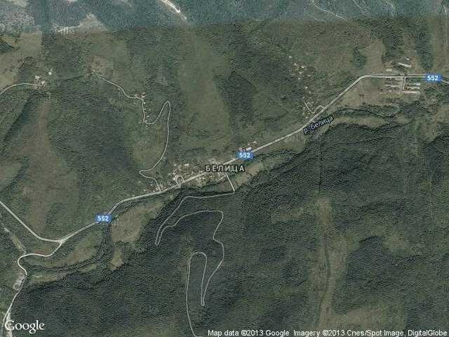 Сателитна карта на Белица