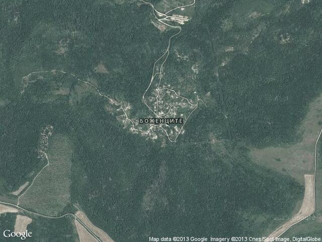 Сателитна карта на Боженците