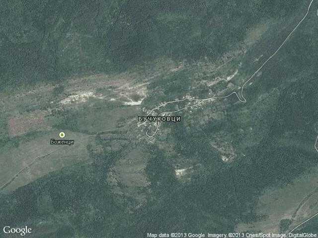 Сателитна карта на Бучуковци