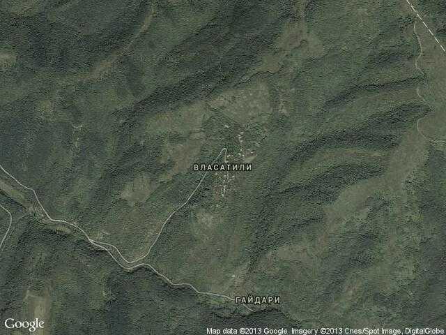 Сателитна карта на Власатили