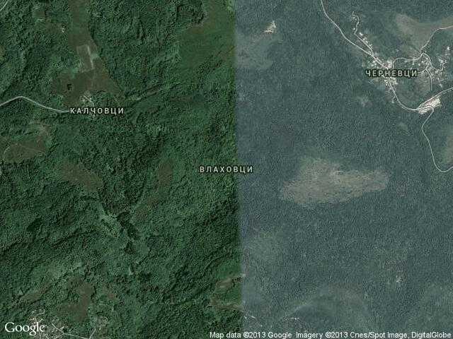 Сателитна карта на Влаховци