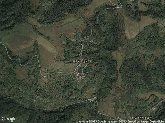 Сателитна карта на Врабците