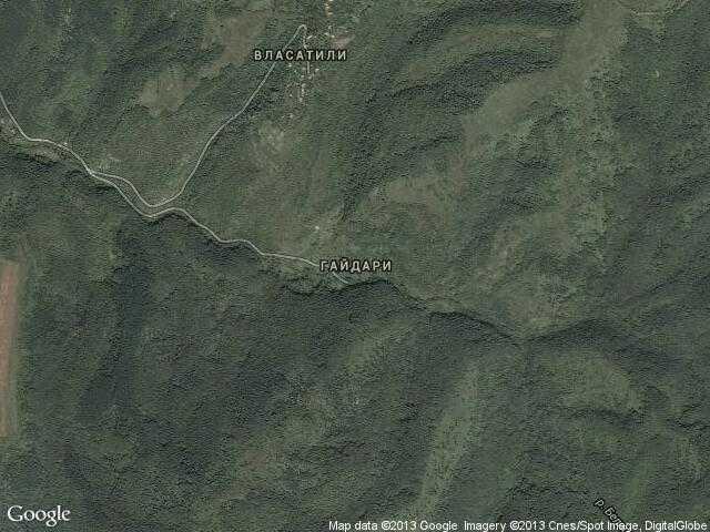 Сателитна карта на Гайдари