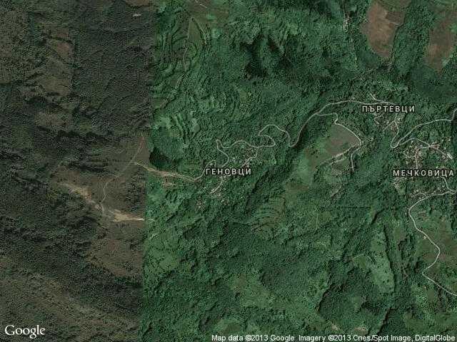 Сателитна карта на Геновци