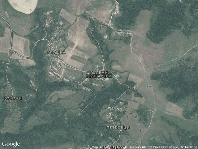 Сателитна карта на Големи Българени