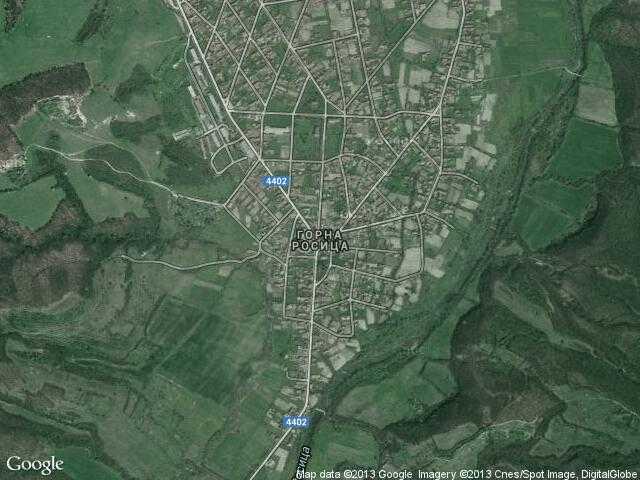 Сателитна карта на Горна Росица