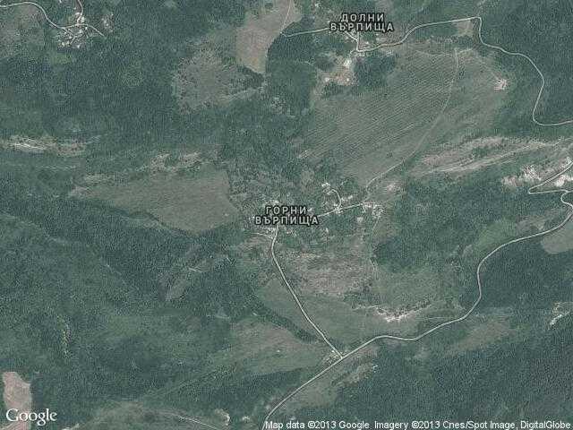 Сателитна карта на Горни Върпища