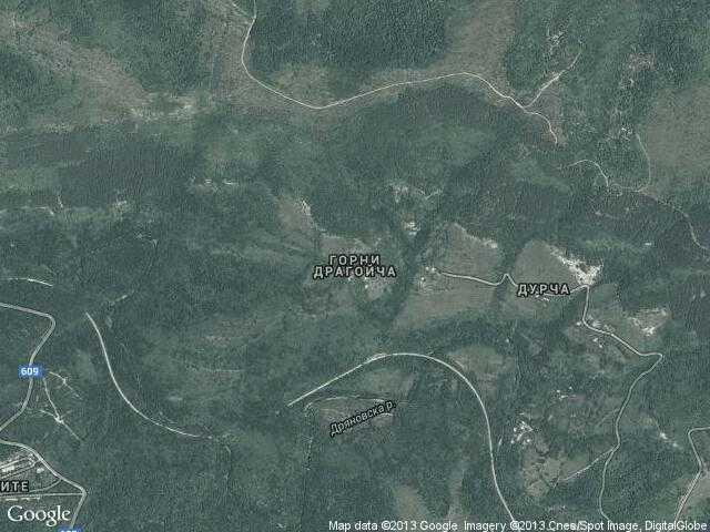 Сателитна карта на Горни Драгойча