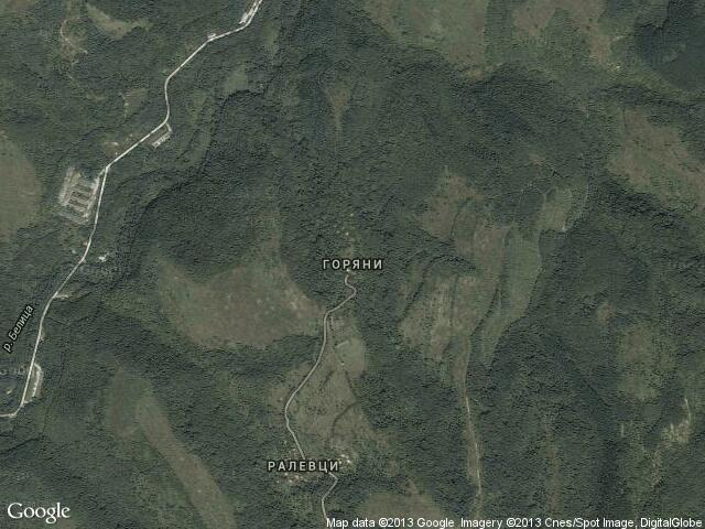 Сателитна карта на Горяни