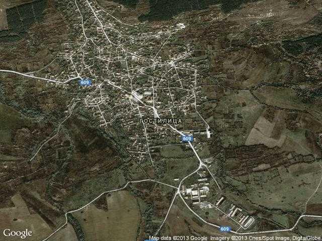 Сателитна карта на Гостилица