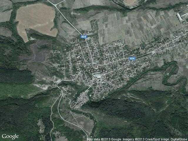 Сателитна карта на Градница