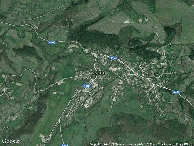 Сателитна карта на Гъбене