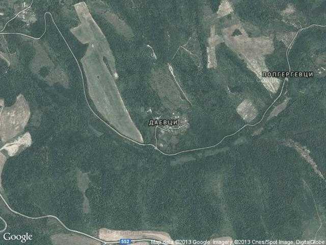 Сателитна карта на Даевци
