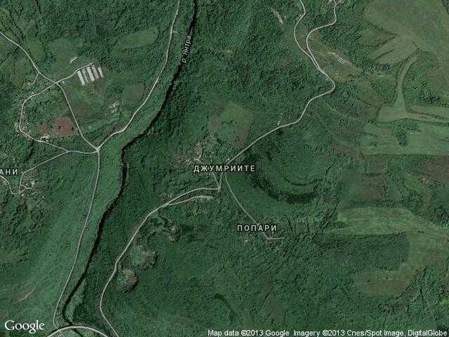 Сателитна карта на Джумриите