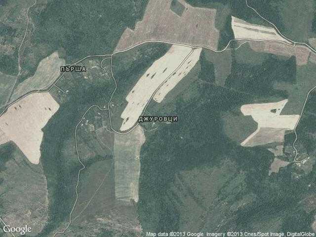 Сателитна карта на Джуровци