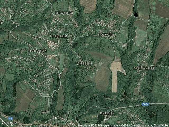 Сателитна карта на Дивеци
