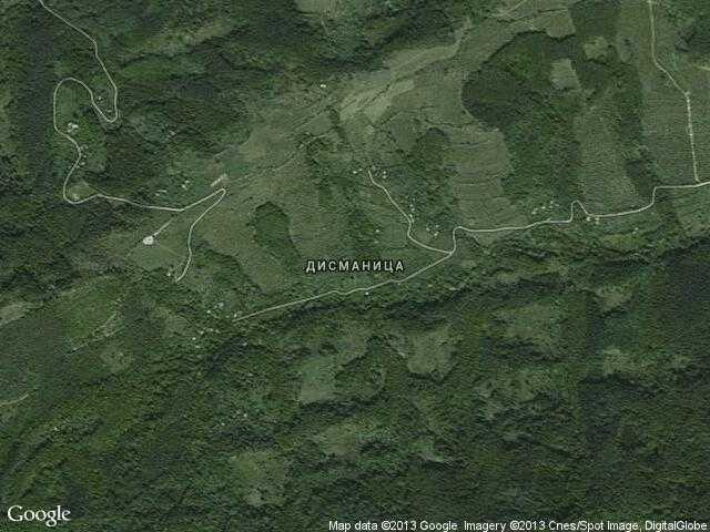 Сателитна карта на Дисманица